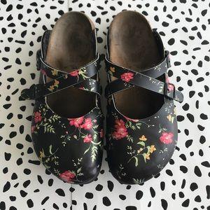 Birkenstock Birkis clogs floral Mary Jane sandal 7
